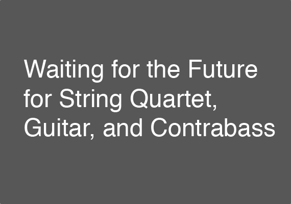 The 24 September 2018 performance of <I>Waiting for the Future</I> at the Sao Paulo Contemporary Composers Festival